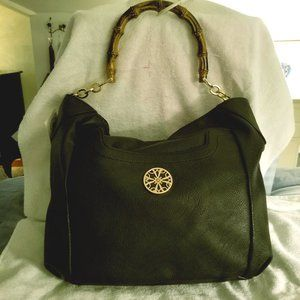 Avon Faux Leather Bamboo Hobo Shoulder Bag NEW!